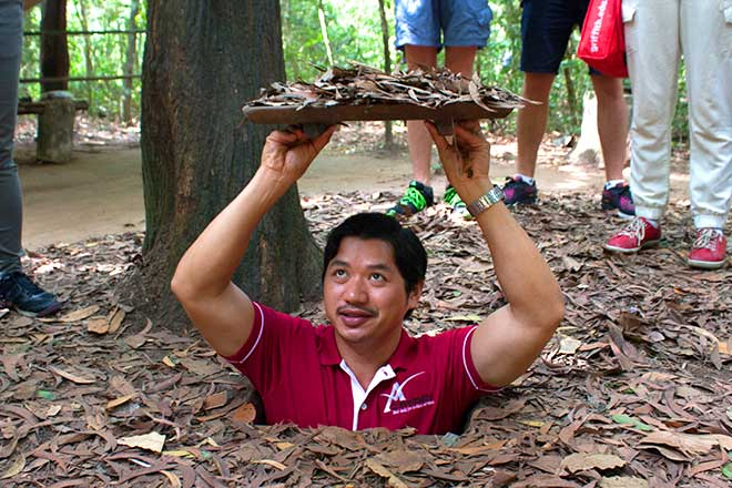 Cu Chi Tunnels Tour Half Day depart everyday. John with us